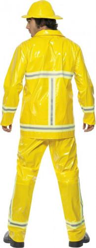 Feuerwehrmann-Kostüm für Herren Uniform gelb-1