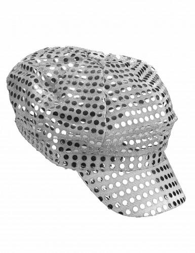 Disko-Mütze silber-1