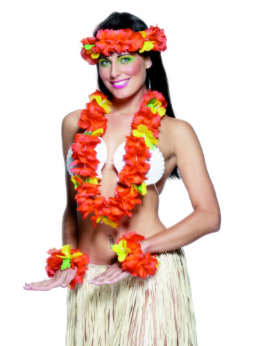 Hawaiianisches Set rot