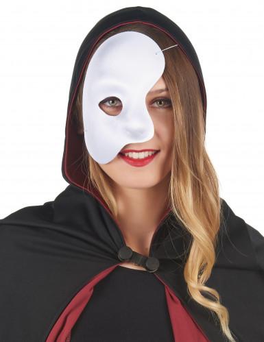 Halbmaske für Erwachsene weiß-1