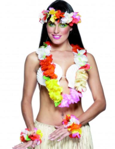 Set Hawaii bunt für Damen