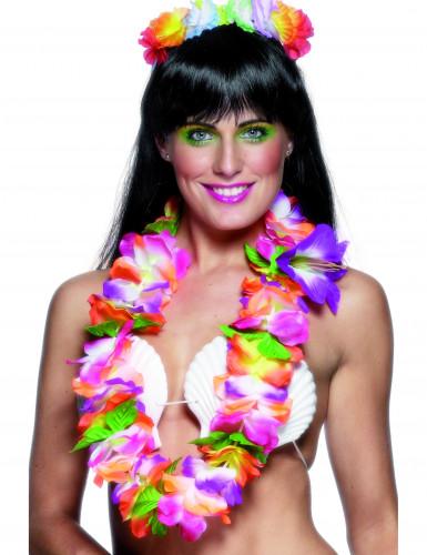Hawaiianische Kette grelle Farben