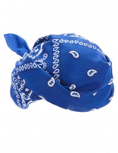 Blaues Bandana-Tuch für Cowboys oder Biker