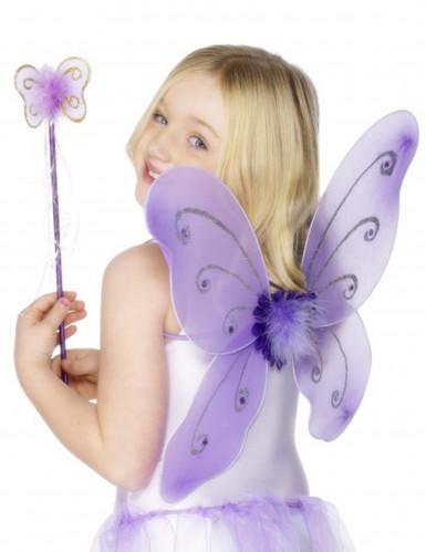 Lila Schmetterling-Set für Mädchen