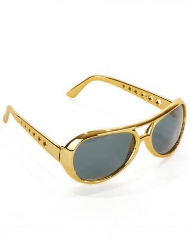 Goldene Elvis™ Sonnenbrille für Erwachsene