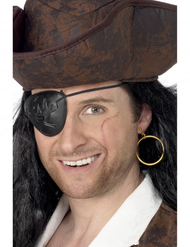 Ohrring + Augenklappe Pirat