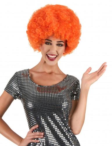 Orangene Perücke Afro-Frisur