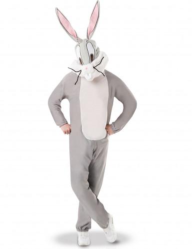 Loones Tunes™-Bugs Bunny-Kostüm für Erwachsene grau-weiss