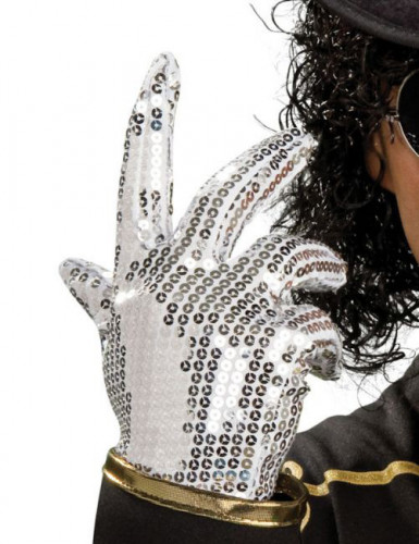 Silberner Mickael Jackson™-Handschuh für Kinder