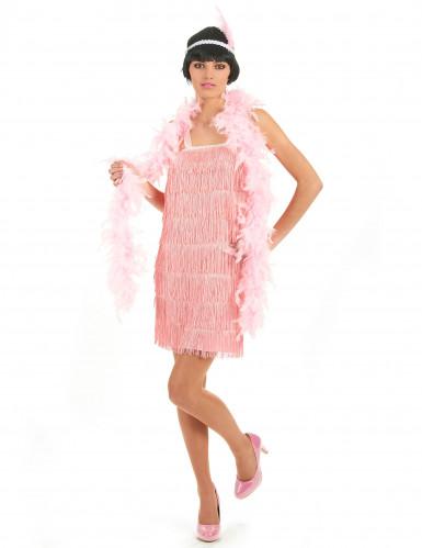 20er Jahre-Kostüm rosa für Damen