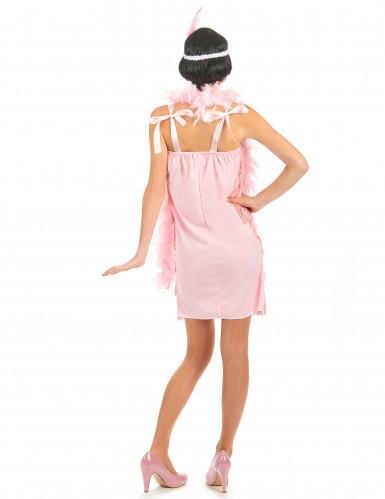 20er Jahre-Kostüm rosa für Damen-2