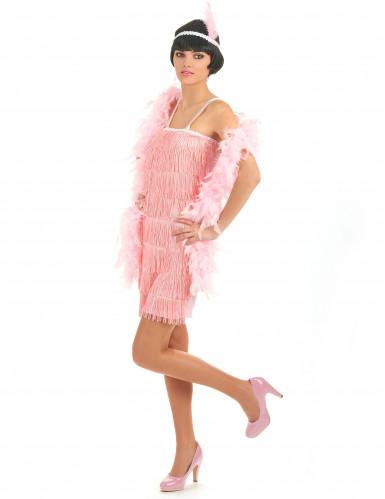 20er Jahre-Kostüm rosa für Damen-1