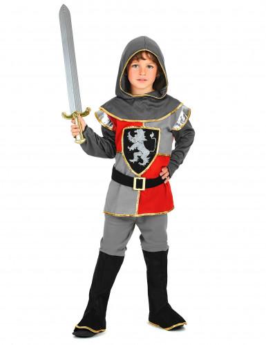Ritter-Jungenkostüm schwarz-grau-rot