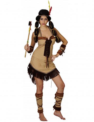 Indiannerinnenkostüm Deluxe für Damen