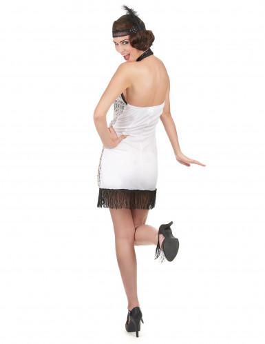 20er Jahre Retro-Kostüm für Damen silber-2