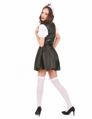 Heisses Zimmermädchen Kostüm für Damen schwarz-weiss-2
