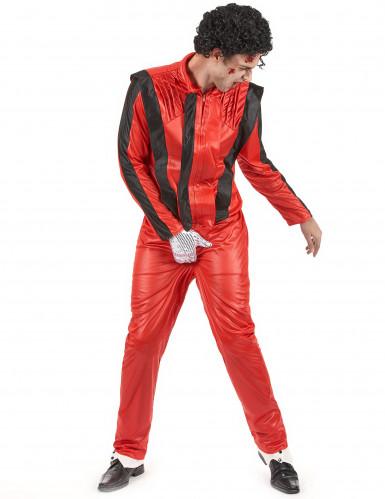 Popstar-Kostüm für Herren rot