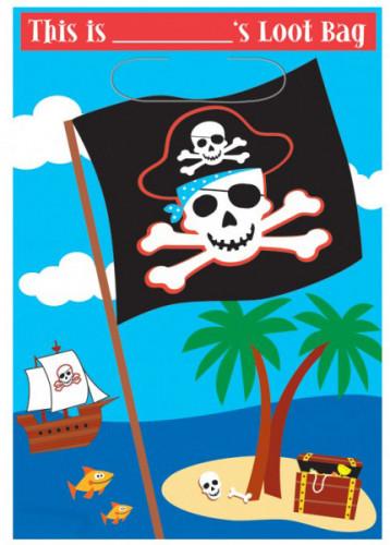 Geschenktüte mit Piratenmotiv