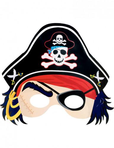 Papp-Maske Piraten
