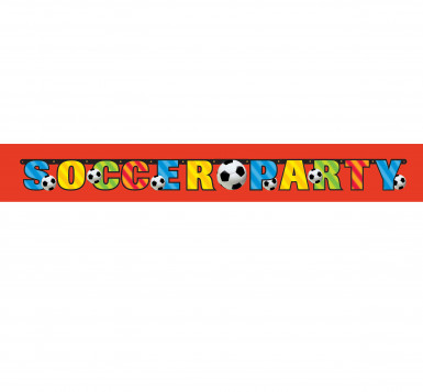 Banner Soccer Party