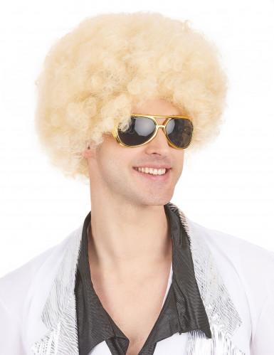 Afro-Perücke blond für Erwachsene-3