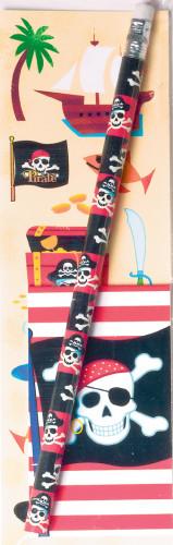 Bleistift mit Piratenmotiv