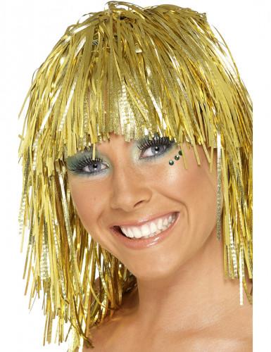 Perücke metallic gold