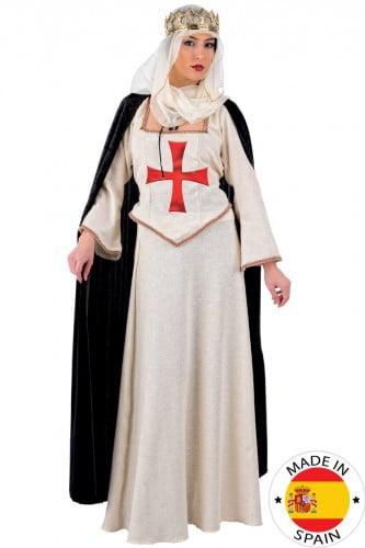 Deluxes Burgfräulein-Kostüm für Damen