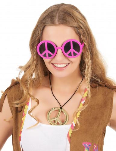 Hippie-Brille Rosa für Erwachsene-1