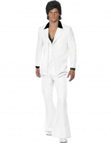 Disco-Kostüm weiß für Herren