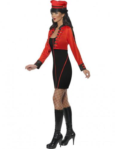Sexy Militär-Kostüm für Damen schwarz-rot-1