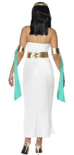 Ägyptische Königin Kostüm für Damen weiß türkis gold-1