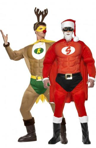 Super-Weihnachtsmann und Rentier-Kostüm für Herren