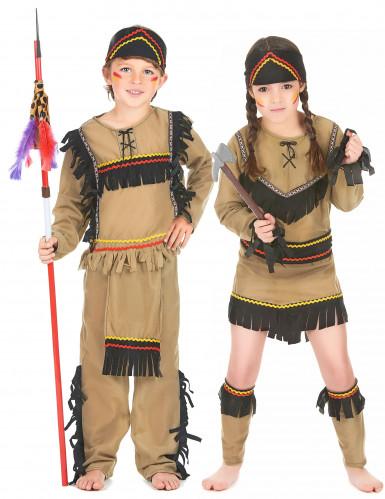 Indianer-Paarkostüm für Kinder