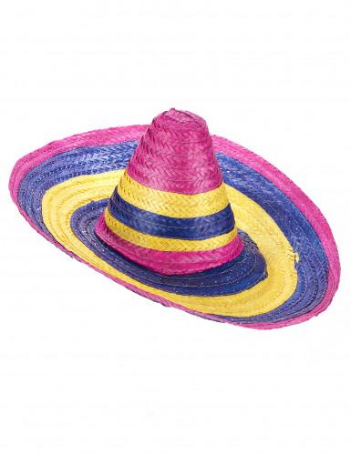 Sombrero Mexikaner-Hut für Erwachsene bunt 50cm