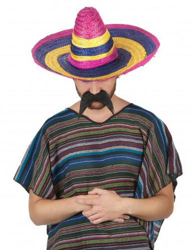 Sombrero Mexikaner-Hut für Erwachsene bunt 50cm-1