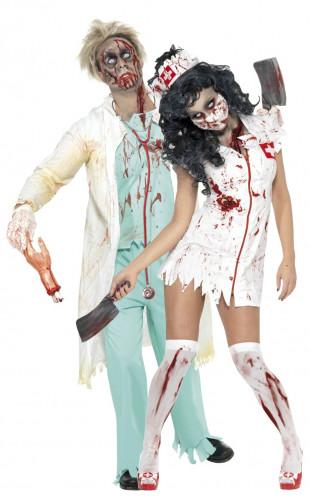 Zombiekrankenschwester/ - doktor-Kostüm Halloween für Paare