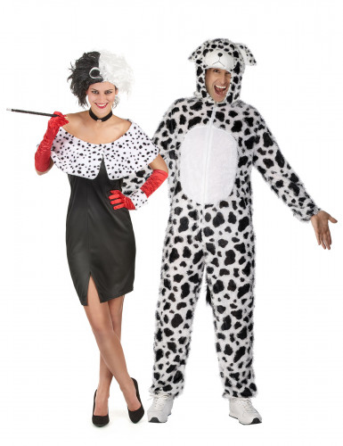 Cruella und Dalmatiner-Paarkostüm für Erwachsene!