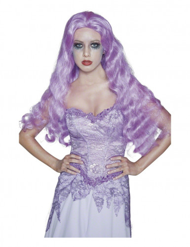 Lila Gothic-Perücke Halloween für Damen