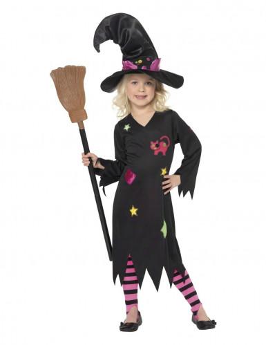 Hexen Halloweenverkleidung für Mädchen