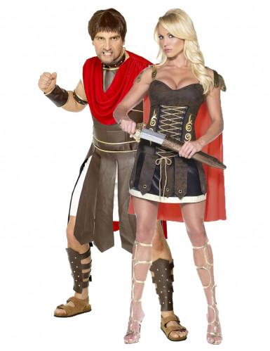 Gladiatoren-Paarkostüm für Erwachsene