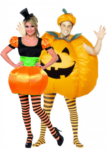 Halloween Kürbis-Kostüm für Paare