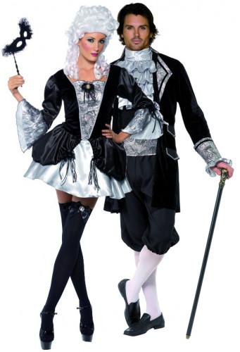 Barockes Vampirkostüm Halloween für Paare