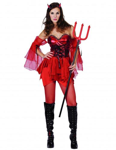 Halloween Teufelin-Kostüm für Damen