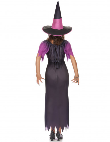 Hexen-Damenkostüm schwarz-violett-2