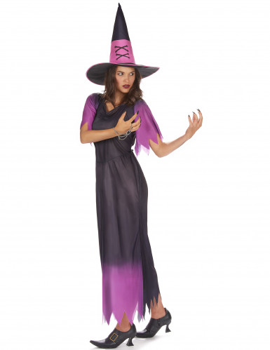 Hexen-Damenkostüm schwarz-violett-1