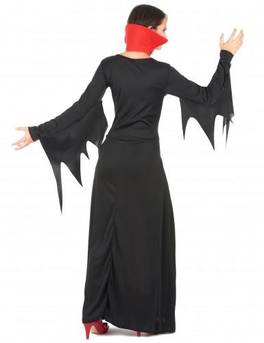 Vampir-Damenkostüm für Halloween rot-schwarz-2