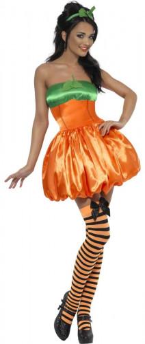 Sexy Kürbis-Kostüm Halloween für Damen