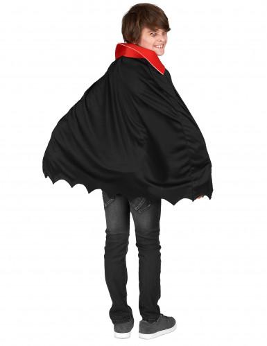 Vampir-Kostüm mit Totenkopfmuster für Jungen schwarz-weiß-rot-2