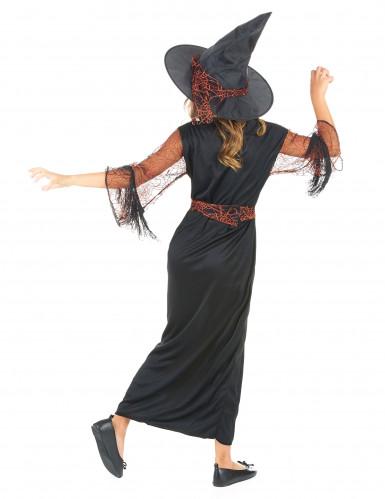 Hexen-Mädchen-Kostüm schwarz-orange-2